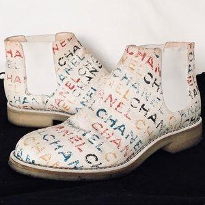 CHANEL Graffiti Pri Toile Multicolored Boots